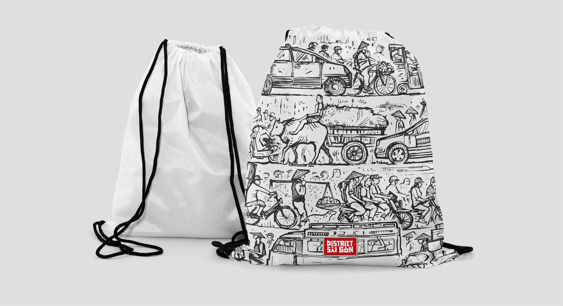 Brian Storm - Illustration & Design Gym Bag Collection / Blue Ocean Clothing