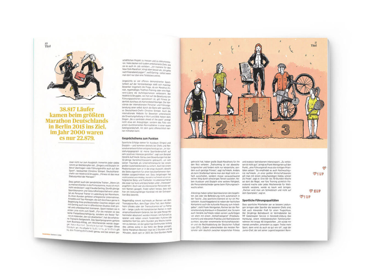 "Brian Storm - Illustration & Design ""Handelsblatt / Karriere"" Magazine"