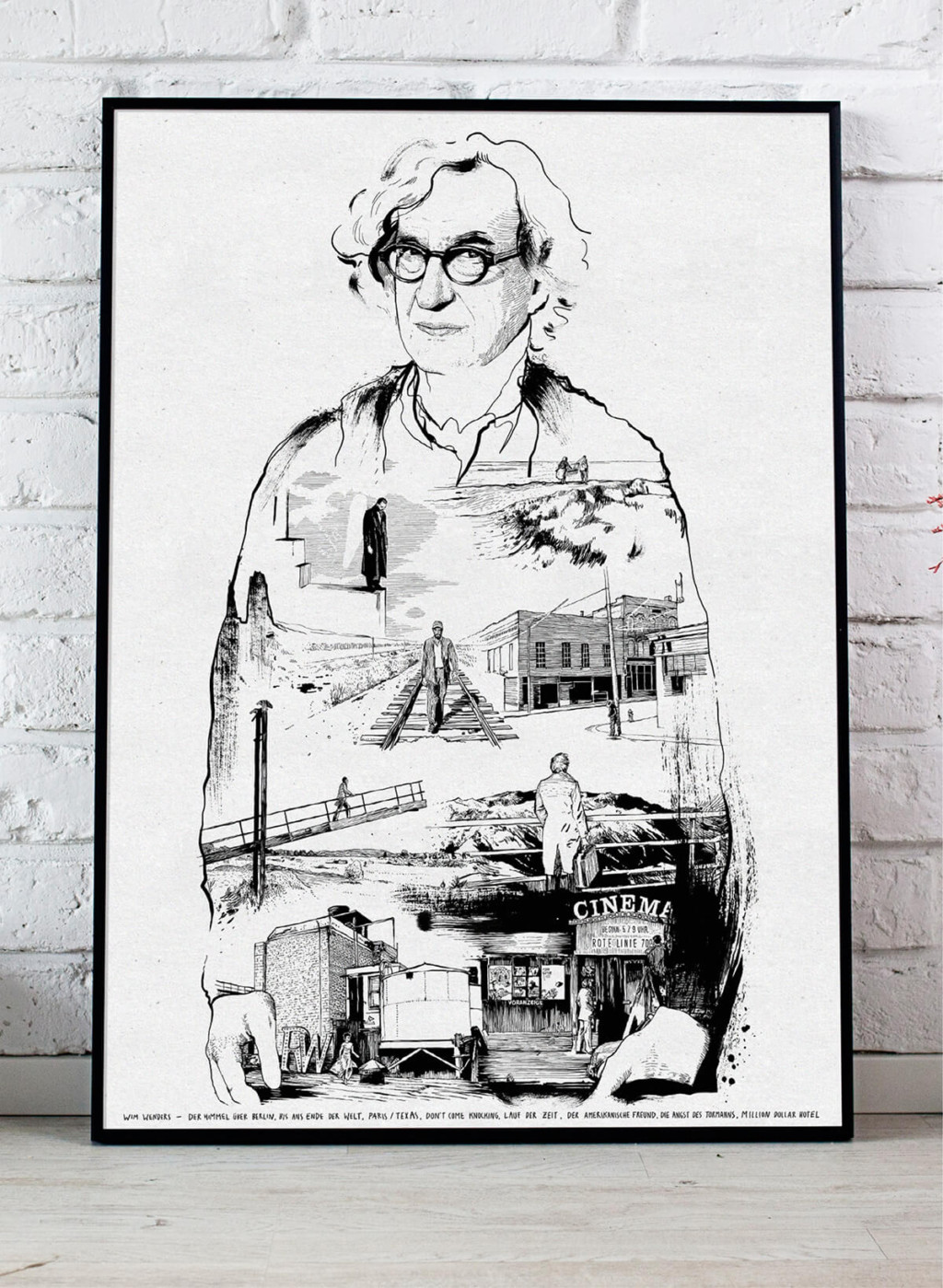 Brian Storm - Illustration & Design Wim Wenders Portrait